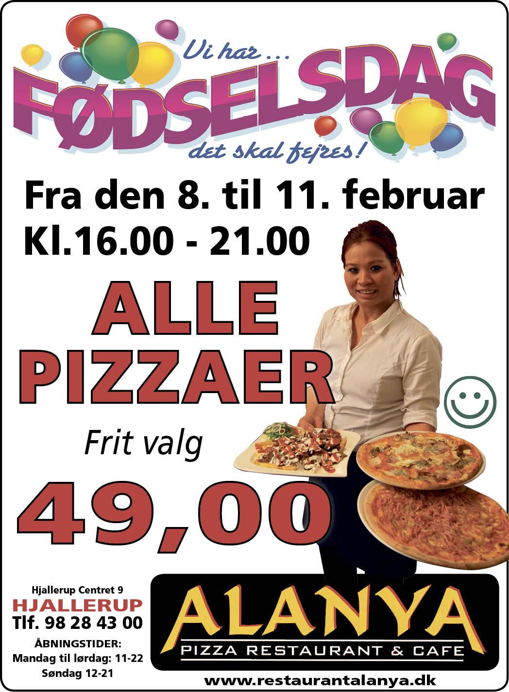 Alanya A3 plakat Fødselsdag